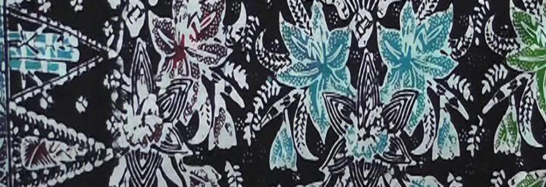Bunga Amaryllis Jadi Motif Batik Khas Pathuk Gunungkidul